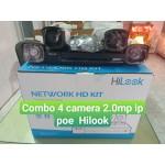 Trọn bộ 4 camera IP POE Hilook