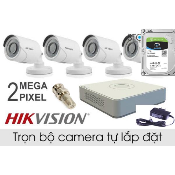 Bộ Camera 4 kênh Hikvision 1080P  ( 2.0 Megapixel)