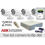 Bộ Camera 4 kênh Hikvision 720P  (1.0 Megapixel)